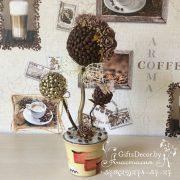 Кофейный топиарий Золотой