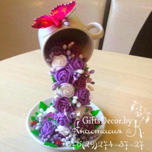 Парящая чашка Сиреневый рай