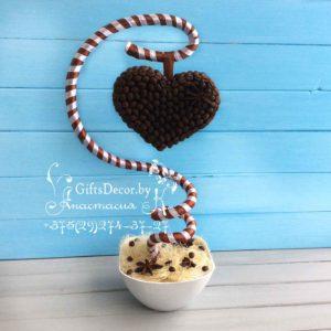 кофейный топиарий сердце