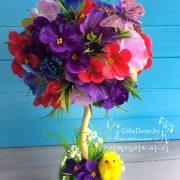 Цветочный топиарий весна