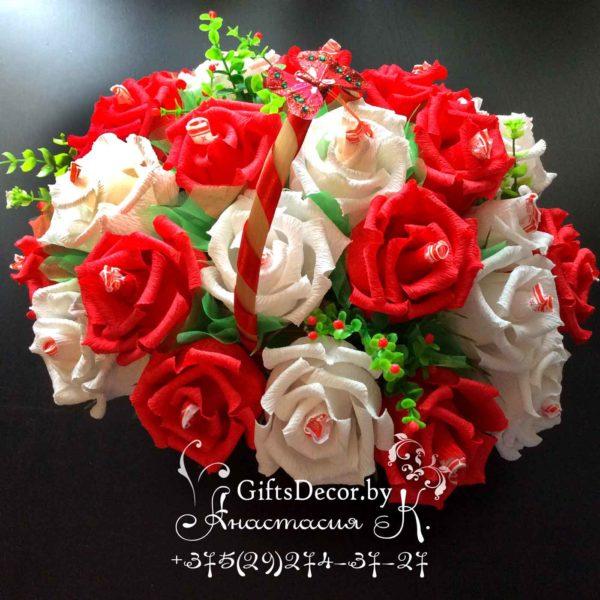 Корзинка из конфет «Розы»
