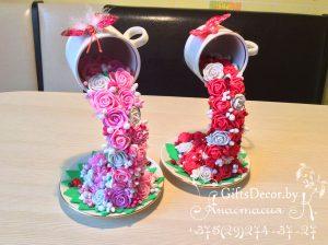 Парящая чашка Цветочный водопад