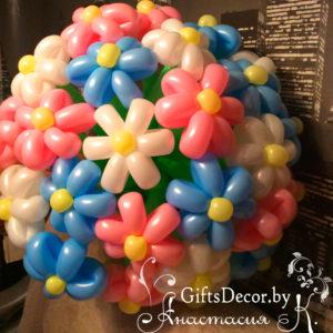 """Букет цветов из воздушных шаров """"27 ромашек"""""""