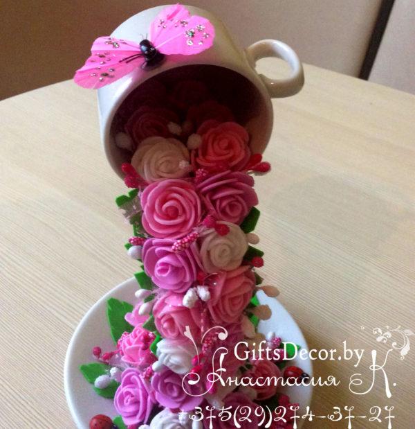 цветочная парящая чашка